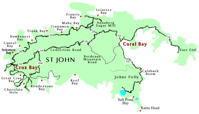 Car Rentals On St. John USVI